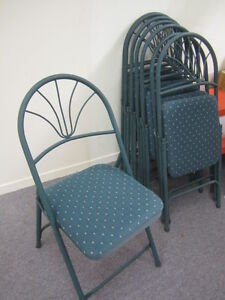 Folding chairs:  $50 for the set of 8
