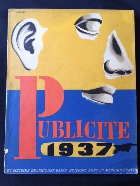 PUBLICITE 1937 *FRENCH ART DECO ADVERTISING *