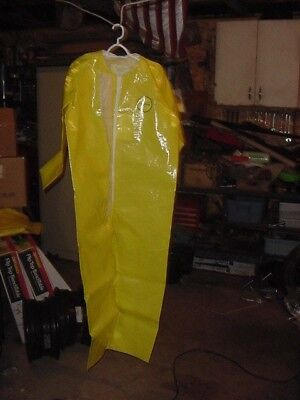 Vintage 1980s Nos Kapplers Frontline Safety Hazmat Suit Size Large Lg Yellow