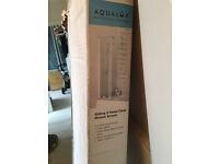 Brand new Shower Door - Aqualux 1400x820mm 2-Panel Slider Bath Screen - Polished Silver