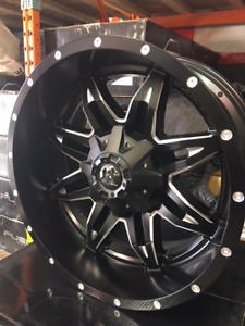 """20"""" Fuel Lethal Matte Black and Milled Alloy Rims for Ford F250"""
