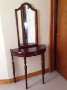 table and mirror