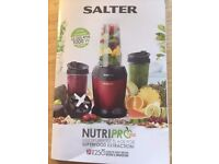NUTRIPRO 1000W RED SALTER 25,000RPM BLENDER/SMOOTHIES/SUPERFOODS