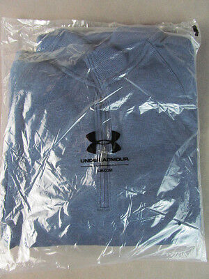 UNDER ARMOUR Academy Blue 1/4 Zip SWEATER Sz Large 1264965 NEW w/Tags Cold Gear