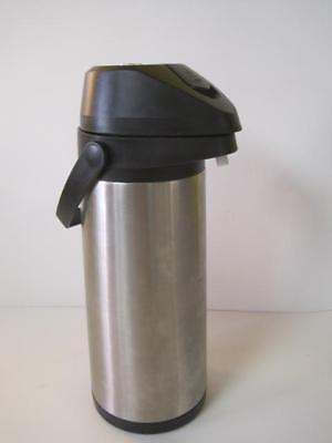Adcraft Brushed Stainless Steel Vacuum Air Pot Coffee Beverage Dispenser 3.0l