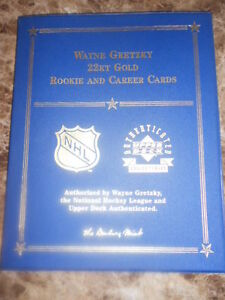 Wayne Gretzky Rookie & last card in GOLD!
