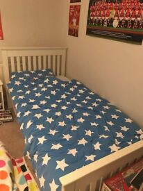 White Aspace Single Bed And Mattress