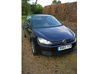 Volkswagen Golf 1.6 SE TDI 105PS MK6 2009 60 plate 5 speed manual 2 key remotes
