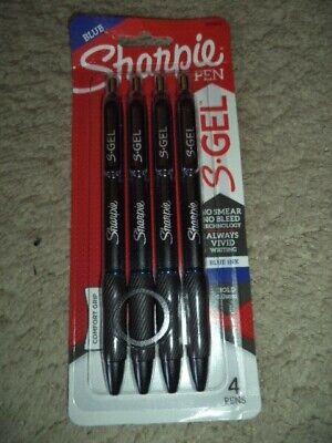 4 Sharpie S-gel Blue 1.0mm Bold Unk Writing Pens No Smear 2096171 071641172234