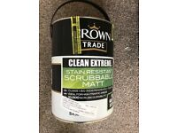 CROWN 7 5LT pots of Crown Clean mat pastel base extreme (easy to clean) paint for sale