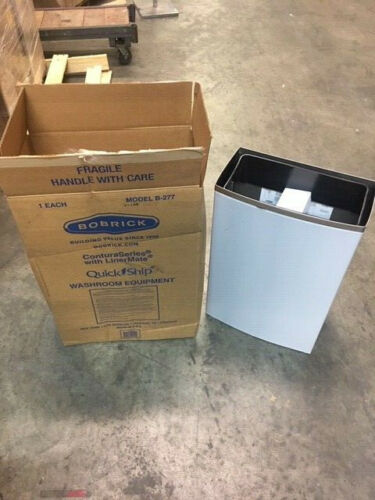 Bobrick Model B-2777 Stainless Steel Surface Mounted Waste Receptacle New