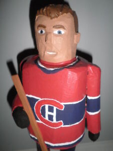 Montreal Canadians Folk Art Carving...
