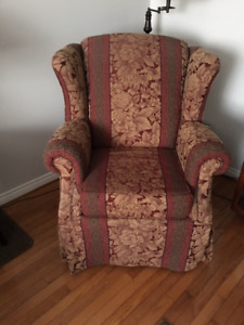 Large wing back chair (x2)