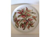 *DENBY GLYNWARE PLATE* Crimson Leaves Hand Painted Stoneware Glyn Colledge MINT