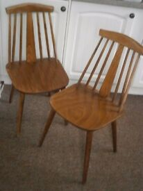 VINTAGE / RETRO ERCOL KITCHEN / DINING CHAIRS