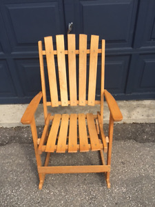 Awesome Wood Rocking Chair