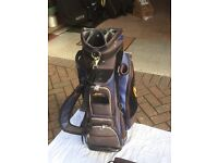 Powakaddy Delux Cart Bag, Blue/Black design with Powakaddy Battery and Charger