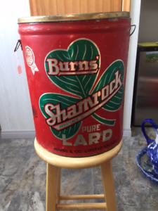Burns Shamrock Lard Tin