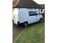 Volkswagen T4, camping electrics, upholstered back, lowered, remapped, side windows, etc