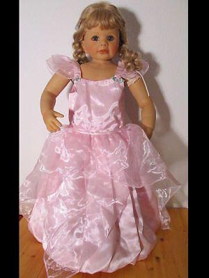 Prinzessinenkleid 116 Kostüm Prinzessin Kleid Fee Cinderella Königin rosa - Cinderella Fee Kostüm