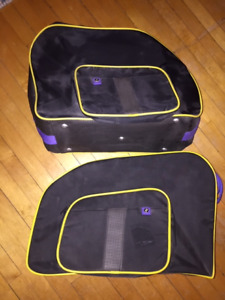 Saddlebag liners for a BMW K1100RS motorcycle