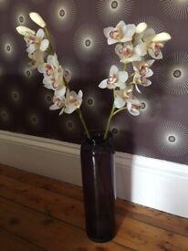 Habitat Purple Vase and artificial flowers