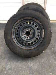 225 x 60R x 16 STUDDED WINTER TIRES AND RIMS EXCELLENT !