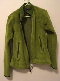 ARCTERYX Polartec zip jumper, size XS green