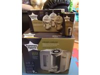 Tomme Tippee Pefect Prep Machine, new filter and new bottles