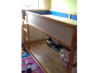 Kids IKEA bed with mattress in excellent condition