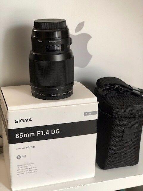 Sigma 85mm F1.4 DG HSM A Canon fit Lens - Excellent