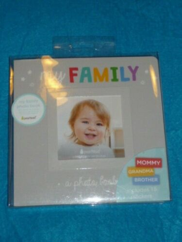 Pearhead My Family Photo Album Keepsake Board Book Style for Baby and Family