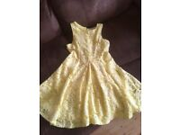 Very pretty yellow party dress from River Island