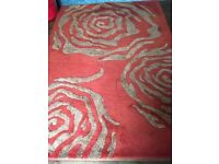 Maskrys rug - Red and brown 240x170 wool and silk