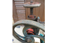 Very Old Bench Drill Heavy Castiron Would look great restored