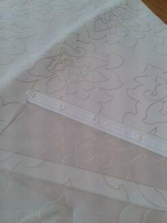 PANEL SLIDE ACROSS  STRIP CURTAINS PLUS TRACKS. AS NEW