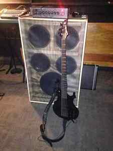 ESP BASS GUITAR AND AMP