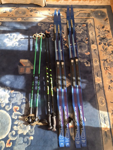 Karhu Classic Cross-country skis and poles (almost brand new!)