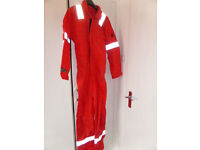 """NEW 'Red Wings' Red Coverall/Boiler Suit 36"""""""