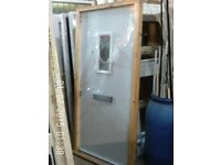White Composite Door with Wooden Frame & Cill