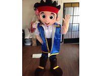 UK SELLER look alike brand new adult Jake pirate delux Mascot Costume fancy dress