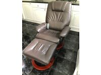 Massage chair and stool, very good condition