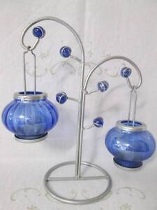 Silver Metal Tea Light Holder With Glass Lanterns. Morayfield Caboolture Area Preview