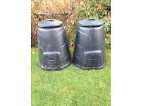 Compost Bins x 2 (330 Litres each)
