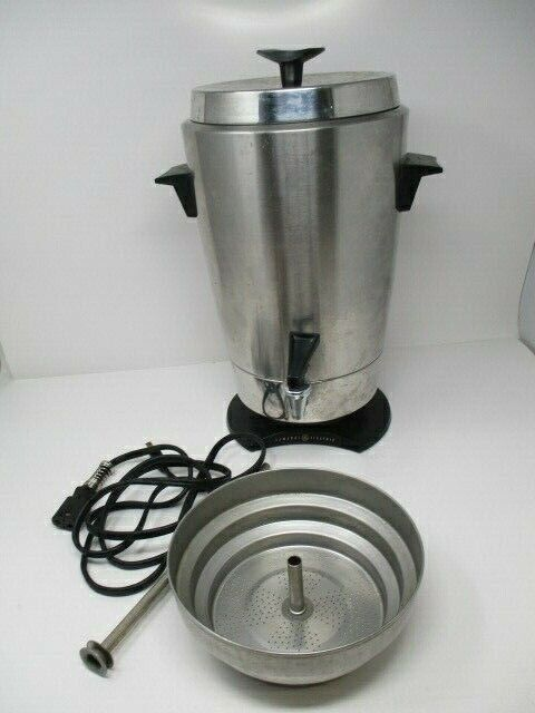 General Electric Automatic Coffee Urn Percolator Stainless Steel Model 13CU1