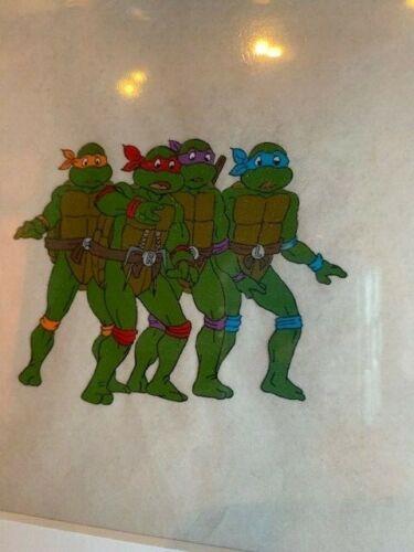 Teenage Mutant Ninja Turtles Animation Original Production Handpainted Art Cel