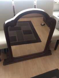 Mirror (Over Mantle free-standing wood effect)