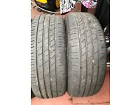 215 65 15 TYRES X 5 4 OF THEM HAVE 4MM TREAD AND 1 HAS 3MM TREAD