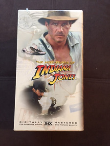Indiana Jones 1-3 (+Young Indy) VHS Collector's Set -New, sealed