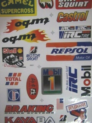 Vintage Racing  Decals / Stickers Camel-shell-dirt Squirt-repsol-more-nos